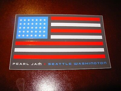 PEARL JAM Seattle Flag Easy Street Pop Up Logo Sticker New not cd lp but COOL