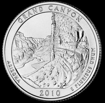 "2010 P Grand Canyon National Park Quarter Arizona ""Brilliant Uncirculated"" ATB"