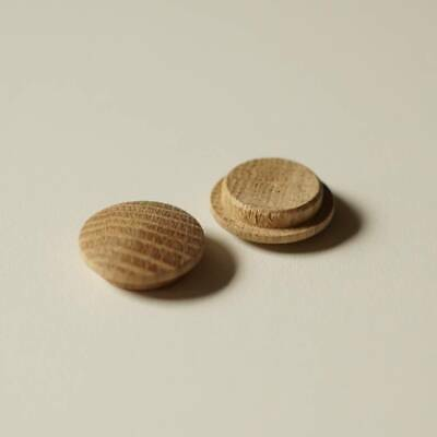 Solid Oak Mushroom Head Plugs / Caps 20mm Diameter Hole Joinery Buttons MH20