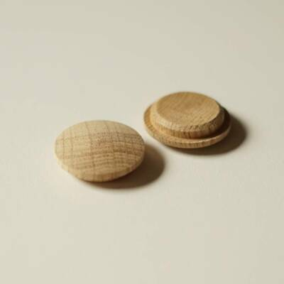 Solid Oak Mushroom Head Wood Plugs 25mm Diameter Hole Furniture Buttons MH25