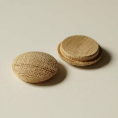Large Solid Oak Mushroom Head Plugs 30mm Diameter Hole Stairs Wood Buttons MH30