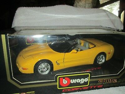 C 5 CORVETTE  chevrolet burago 1998 1/18 VETTE yellow