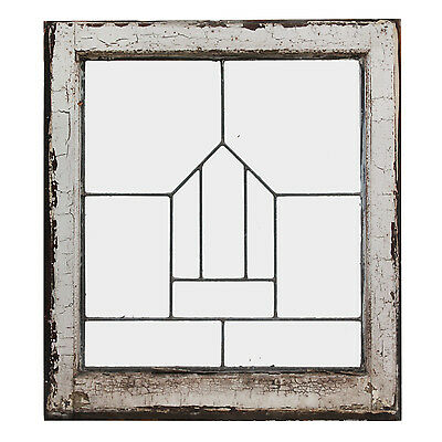 Antique American Leaded Glass Windows, 2 Available, NLG157