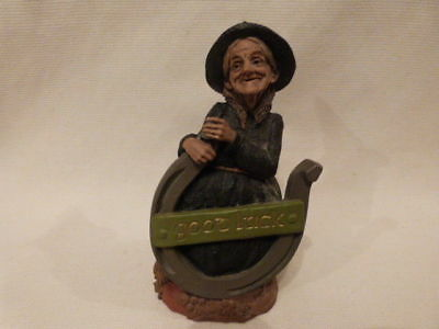 VINTAGE1989 Tom Woman Gnome Witch  Figurine LUCKY LUCY St. Patricks Day 6.5""