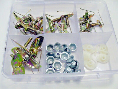 Fit Ford 130 Pcs Door Body Side Moulding Fasteners Exterior Trim Clips Kit NOS