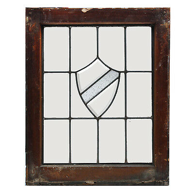 Antique American Leaded and Beveled Glass Window, 3 Available, NLG156