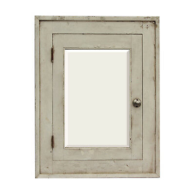 Salvaged Antique Medicine Cabinet with Beveled Mirror, Early 1900s, NMC39