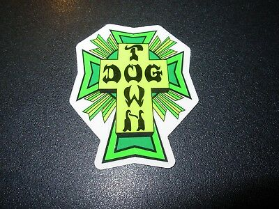 "DOGTOWN dog town Skate Sticker BlkRd Cross 4.25 X 3.5/"" skateboards helmets decal"
