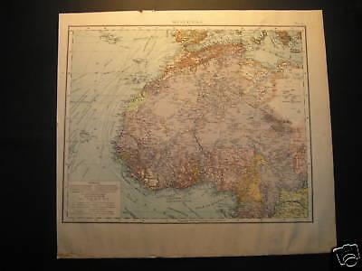 Antique Landkarte map West Africa 1880 Westafrika landkaart