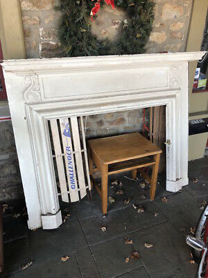 19th CENTURY PAINTED FIREPLACE MANTLE