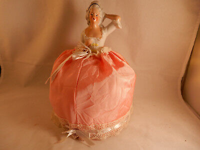 Vintage  Lady Pin Cushion Doll w/ Pink Dress, Germany 8030