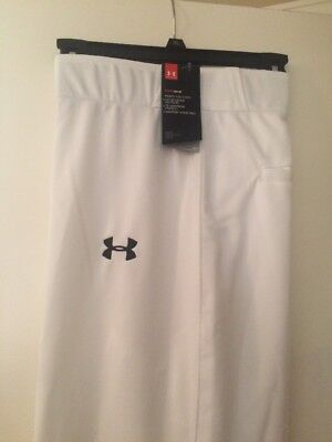NWT Under Armour Mens  Baseball Pants  Adult XL Solid White $39.99 NEW QTY Avail