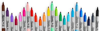 Sharpie One Pen Or 28 Pack Permanent Markers Colours Fine & Ultra Fine Point Tip