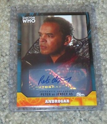 2017 Topps Doctor Who Signature Androgar Autograph