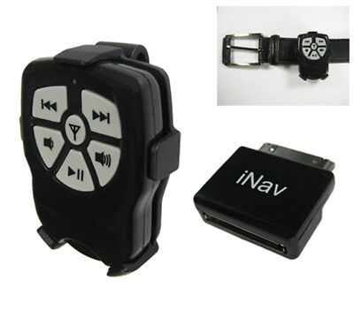 iNav Boss V2 wireless remote control with Belt Clip for iPod, Nano, iPhone
