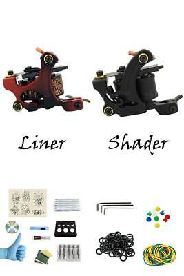 Tattoo Machine Complete Kit Professional Lining Shading Body 2 Gun 40 Ink Color