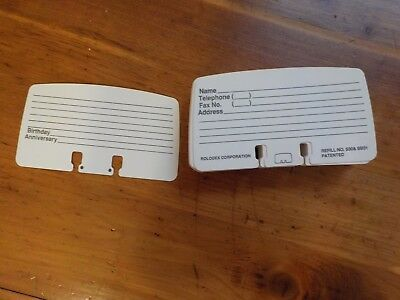 """ROLODEX Card File Refills No. S30 SB31  2 1/4"""" x 4"""" Printed White Address Lined"""