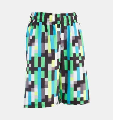 f5f243ff3d Under Armour Pixel Zoom Volley Boys' Surf Shorts Size YLG Laser Green