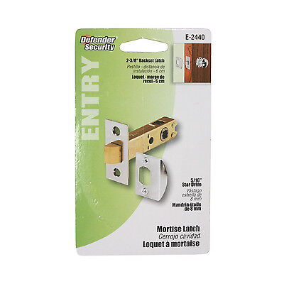 Modern Mortise Latch Set for Antique Knobs, Chrome NML1C