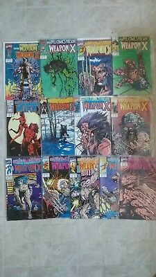 1991 Marvel Presents before Wolverine there was Weapon X #72-#84 Complete Series