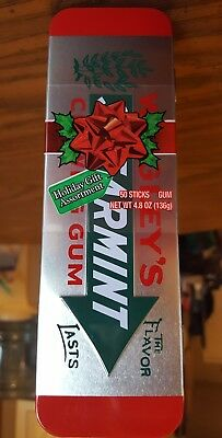 Wrigley's SPEARMINT Chewing Gum Collectible Advertising Tin 50 gum sticks