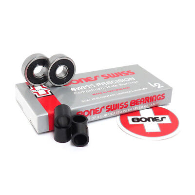 BONES LABYRINTH2 L2 SKATEBOARD BEARINGS set of 8 TOP QUALITY SPEED! for complete