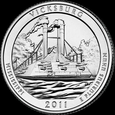 "2011 D Vicksburg National Park Quarter Mississippi ""Brilliant Uncirculated"" ATB"