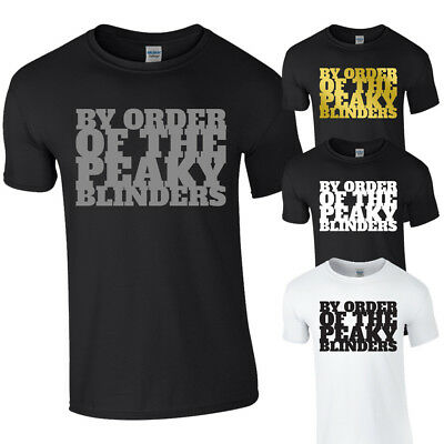 BY ORDER OF THE PEAKY BLINDERS TShirt Tee Top Shelby Tommy Cillian Murphy BBC TV