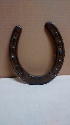 Lucky Cast Iron Horseshoe Texas Lone Star Rustic Ranch Horse Shoe