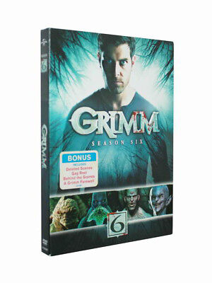 Grimm: Season Six 6 (DVD, 2017, 4-Disc Set) Brand New Free Shipping