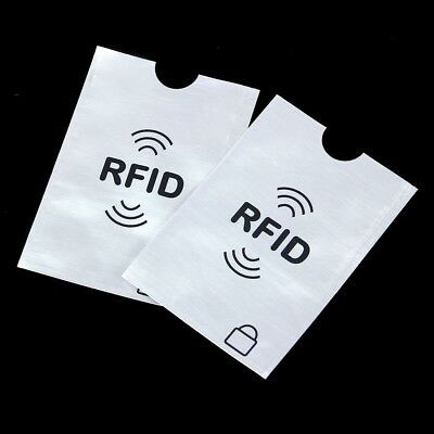10x RFID Credit Debit ID Card Sleeve Protector Blocking Safety Anti Theft DH
