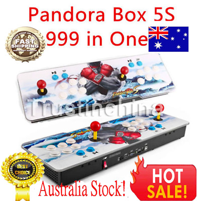 Pandora's Box 5s 999 in 1 Retro Video Games Double Stick Arcade Console Light