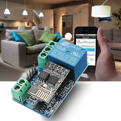 ESP8266 12V WiFi Relay Networking Smart Home Phone APP Remote Control Switch