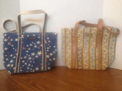 Longaberger American Starburst and Botanical Fields Tote Bags