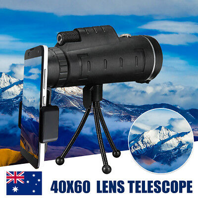 AU 40X60 Camera Lens Telephoto Telescope Monocular + Phone Holder + Tripod Stand