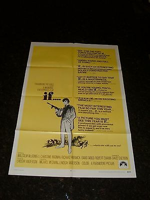 "IF... Original 1969 Movie Poster, 27"" x 41"", C8 Very Fine Condition"