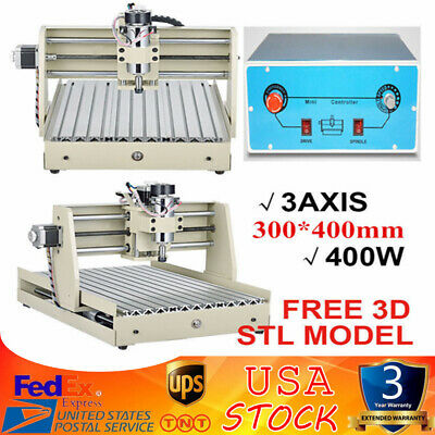 3 Axis Router Engraver Engraving Cutter 3040 T-Screw Desktop Cutting 400W