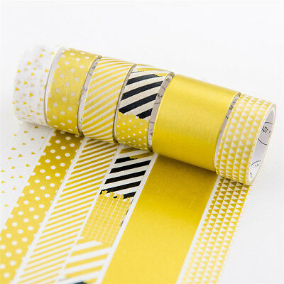 4Pcs Gold Silver Color Series Washi Tape DIY Scrapbooking Masking Tape Decor