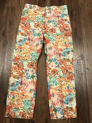 Vintage Mens Golf Pants Custom Made 35x29