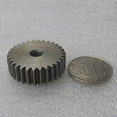 1Pcs 1 Mod 34T Spur Gear Motor Gear 45# Steel Thickness 10mm Outer Dia 36mm