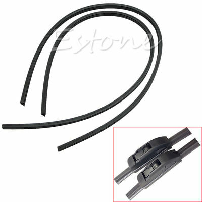 2Pcs New Universal 65cm Auto Car Windshield Frameless Rubber Wiper Blade Refill
