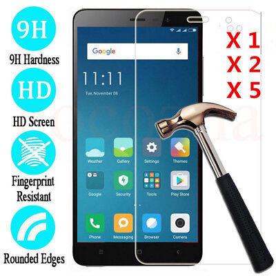 Premium Tempered Glass Cover Screen Protector Film For XiaoMi Redmi Note 4/4X/5A