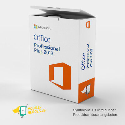 Microsoft Office 2013 Professional Plus 1 PC ✔32&64 Bit ✔ NEU ✔ SOFORT