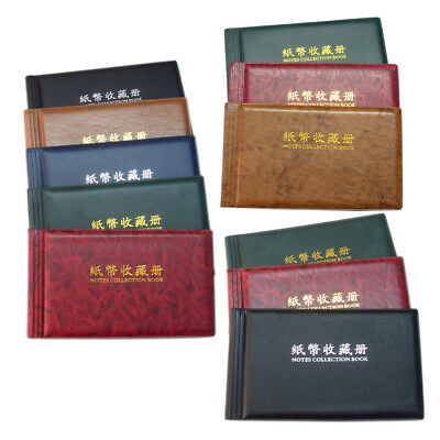 20 Page Banknote Currency Collection Album Wallet Paper Money Pocket Holder Book