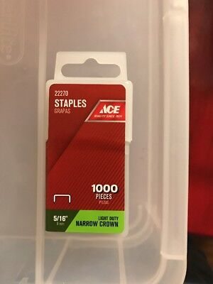 """ACE 22270 Staples 1000 box, 5/16"""", FREE SHIPPING"""