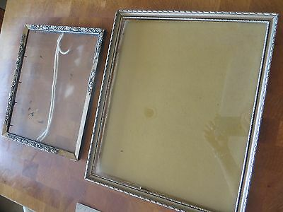 Pair of Antique Victorian Picture Frame, Wood & Silver, from 1920's
