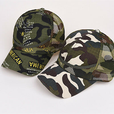 Children Boy Girl Camouflage Baseball Caps Camo AdjustableSnapback Hat Cap Pop