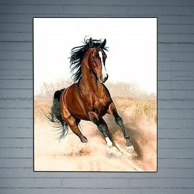 Oil Painting Running Horse Digital DIY Paint By Number On Canvas Wall Artwork
