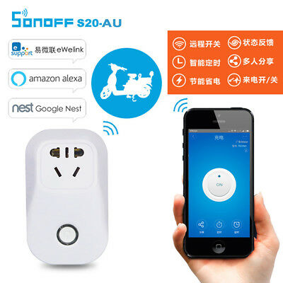 Sonoff S20 WIFI Remote Control Smart APP Timer Socket US/EU Plug Home Automation
