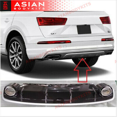 for AUDI Q7 4M REAR DIFFUSER with Exhaust tips 2016+